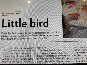Little Birds – Bring your child to work day at Bird & Bird