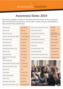 Awareness Dates 2019